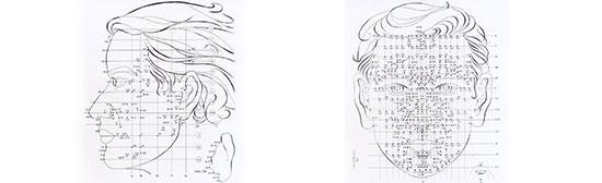 Schema originale Riflessologia facciale Dien Chan